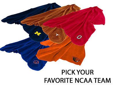 NCAA Teams - 50x60 Fleece Stadium Blanket with Embroidered Team Logo ()