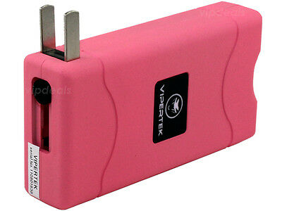 Купить VIPERTEK PINK VTS-880 10 BV Mini Rechargeable LED Police Stun Gun + Taser Case