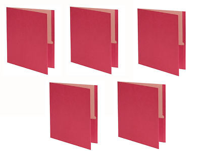 New 5 Pack Earthwise Oxford Twin Pocket Red Folders Letter Size Paper Earth Wise