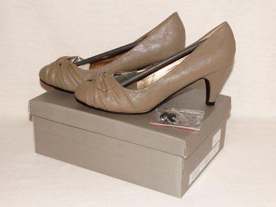 Neue Damen Pumps Größe 38 beige KHAKI PU Schuhe 7 cm Absatz NEU Beige Pumps Khaki