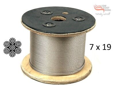 305M Reel of G316 7x19 Stainless Steel Wire Rope