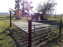 Queen Size Timber & Metal Bed Kentucky Uralla Area Preview