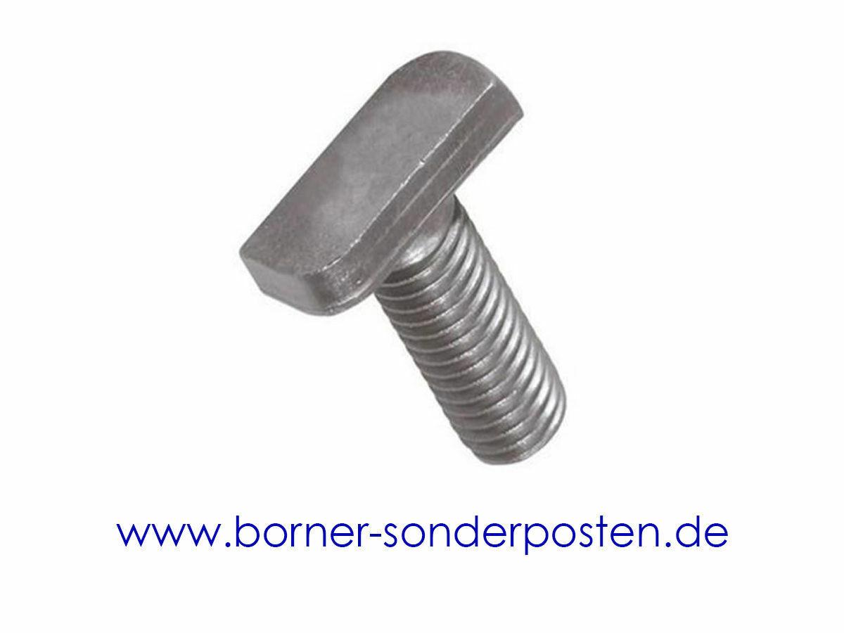 Hammerkopf-//Ankerschienenschraube M 8 x 20  10 St Typ 28//15 VA  Edelstahl