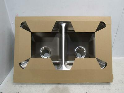 Kindred 20 Ga Stainless Steel Double Bowl Kitchen Sink CDLA3322-8-4CBN