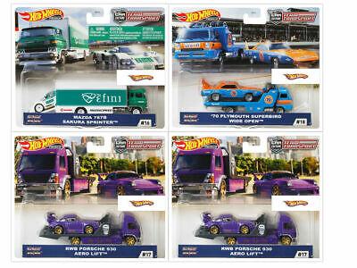 Hot Wheels 1:64 -  2020 Car Culture Team Transport Case G Set of 4 Sealed Case