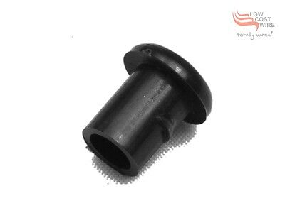 Black Nylon Split Ring Grommet with Retention Shoulders