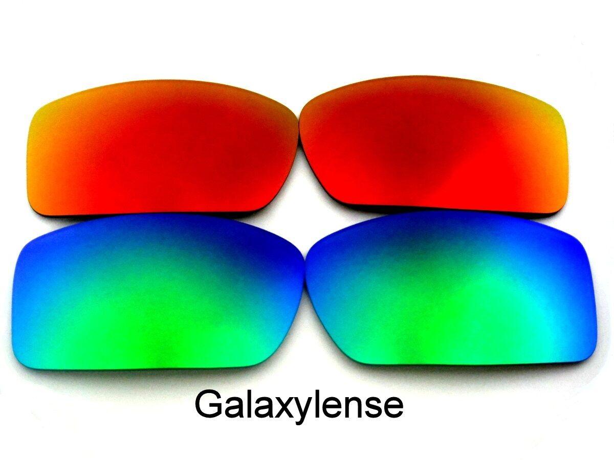 Galaxia lentes de recambio para Oakley Gascan verde y rojo polarizaron 2  pares 612050b24a