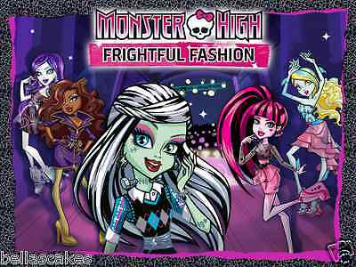 Tortenaufleger Monster High Dekoration A4 eßbar Kuchen backen Puppe Figur neu (Monster High Kuchen Dekoration)