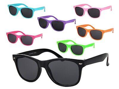 Farbige Retro Kinder-Brillen Sonnenbrille Viper Nerd-Brille Hornbrille Atzen