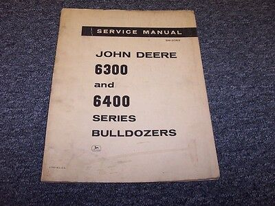 John Deere 6300 6305 6310 Bulldozer Dozer Shop Service Repair Manual Book Sm2083