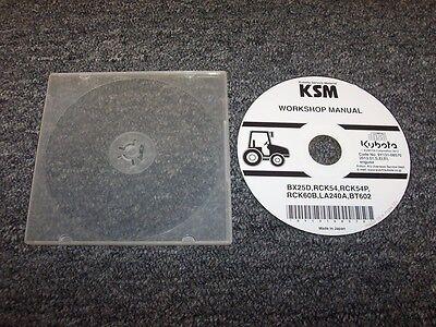 Kubota Bx25d Rck54 Rck54p Tractor Workshop Shop Service Repair Manual Dvd