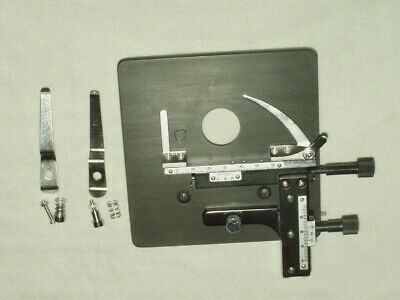 American Optical Ao Microscope Stage Precision Custom Mounted X-y Clips