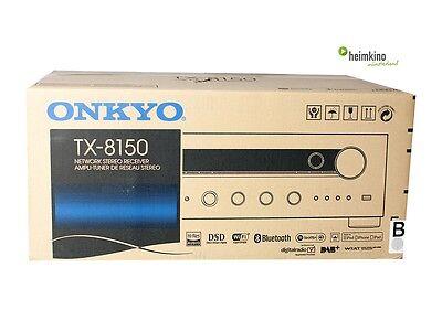 Onkyo TX-8150 Stereo-Netzerk-Receiver, Bluetooth, Airplay(Silber) NEU Fachhandel