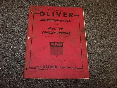 Oliver Cletrac Dd Bulldozer Dozer Crawler Owner Operator Instruction Manual