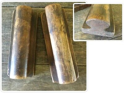 Pair Of Oak Victorian Leather Stretchers - Old Leather Working Tools - Bootmaker