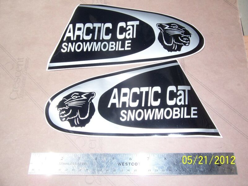 """SET of 5.5""""X 11"""" 1969 ARCTIC CAT Panther + others Replacement Hood Stickers"""