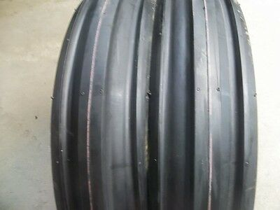 Two 350x8 350-8 3.50-8 Cub Cadet Triple Rib Front Tractor Tires With Tubes