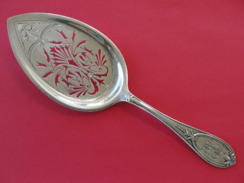 "Gorham Sterling Silver H. Wachhorst ""Olive"" Pattern Pie Server"