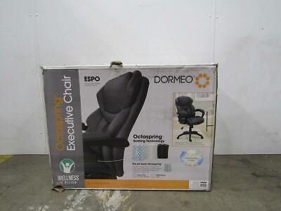 Used, Dormeo Espo Octaspring Managers Office Chair Bonded Leather Gray for sale  Shipping to Nigeria