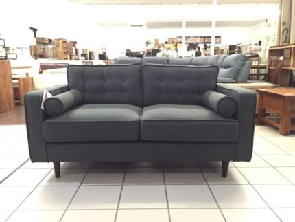 CLEARANCE - HARRY 2 SEATER CHARCOAL