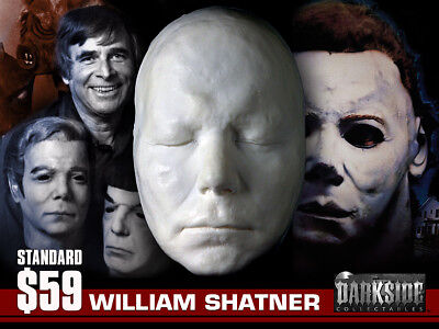 WILLIAM SHATNER (THE SHAPE-HALLOWEEN) LIFE-SIZE Life Mask in Lightweight Resin](Shatner Mask Halloween)