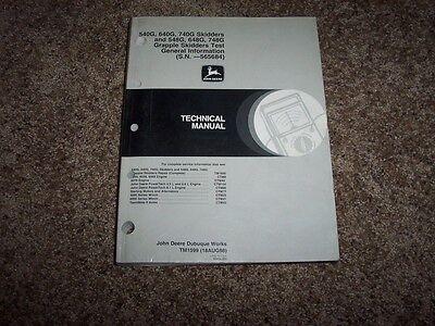 John Deere 540g 640g 740g 548g 648g 748g Skidder Operation Test Manual Tm1599