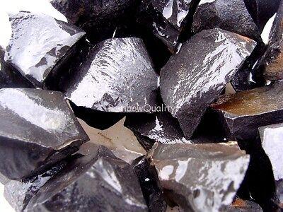 JET BLACK JASPER - 1 Lb Lot - Great for Tumbler / Polisher - Cabbing Rough Rock