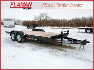 Trailtech 18' Flatdeck - Two 7000 lbs Axles!