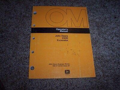 John Deere 290d 290 D Excavator Owner Operator Maintenance Manual Omat130302