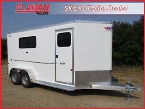 Frontier 3 Horse Trailer - Slant Load with Tack Room!