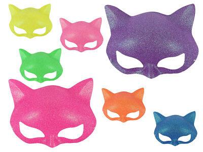 Alsino Glitzer Katzen Maske Augenmaske Party Inkognito Gesichtsmaske bunt