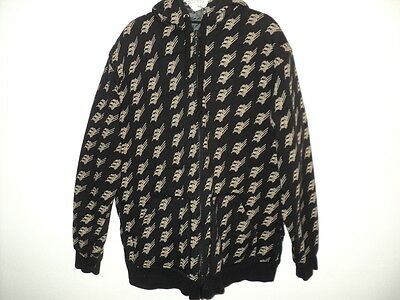 Matix Men's Large Size L Quilted Hoodie Jacket Snowboard Skateboard Black & Tan