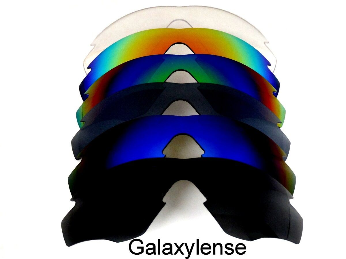 a2b1f3c1c9 NEW OAKLEY M2 FRAME BLACK   BLUE   TITANIUM   GREEN   RED   CLEAR COLOR POLARIZED  REPLACEMENT LENSES 6 PAIRS