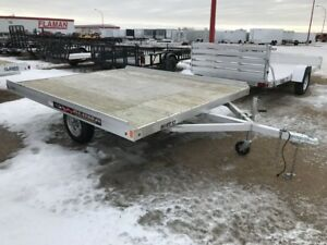 2017 Aluma Ltd. 8610T Flatdeck Snowmobile Trailer