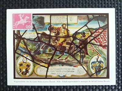 SCHWEIZ MK 1960 699 POSTREITER PFERD HORSE MAXIMUMKARTE MAXIMUM CARD MC CM c5095