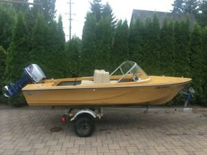 14' Vanguard Runabout with trailer