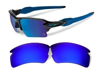 Galaxy Replacement Lenses For Oakley Flak 2.0 Sunglasses Blue Polarized  for sale  Shipping to India