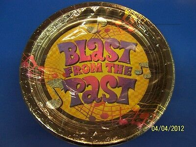 Blast From The Past Theme (Blast from the Past 60's 70's Retro Music Notes Theme Party 10.5