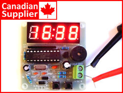 Digital LED Clock Module 4-Digit, Dual Alarm, Counter, Countdown, easy DIY kit