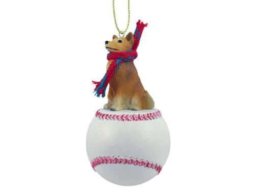 Finnish Spitz Dog Baseball Sports Figurine Ornament