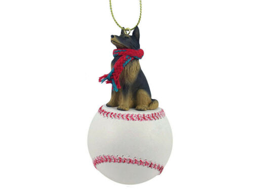Belgian Tervuren Dog Baseball Sports Figurine Ornament