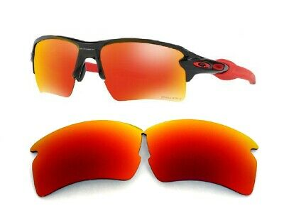 Galaxy Replacement Lens For Oakley Flak 2.0 Sunglasses Red Polarized 100% (Red Polarized Sunglasses)