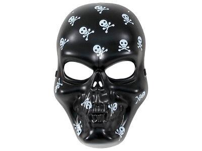 Horror-Maske Schwarz Totenkopf  Mexiko Paintball Gesichtsmaske Halloween Skull