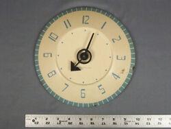Vintage Westclox Wall Clock Metal Blue Stanton Mid Century Modern