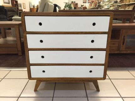 NEW - WOODEN PAINTED DRESSER W/ 4 DRAWERS Logan Central Logan Area Preview