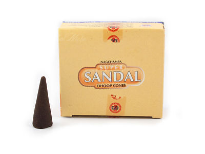 Nag Champa Super Sandal (Sandalwood) Dhoop Cone Incense - Satya Sai Baba -Box/12 for sale  Shipping to India