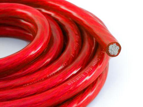 KnuKonceptz Bassik Red 4 Gauge Amplifier Battery Ground Wire TRUE 4 AWG 20Ft