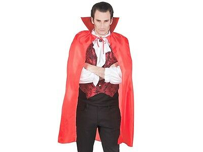 Mantello da vampiro di colore rosso (96921), taglia unica per adulti (Kostüm Da Vampiro)