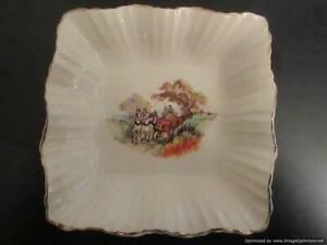 125. J & G Meakin Sunshine - cream dish with horses