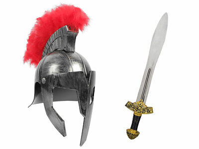 Römer Krieger Kostüm (Kv-156) silber Gladiatoren Helm und Ritterschwert 56 - Gladiatoren Kostüm